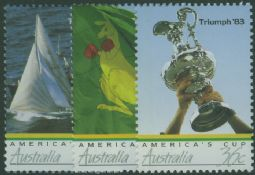 Australian Stamps SG1036-8 Americas Cup set of 3